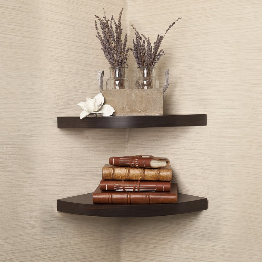 Radial Corner Floating Shelf