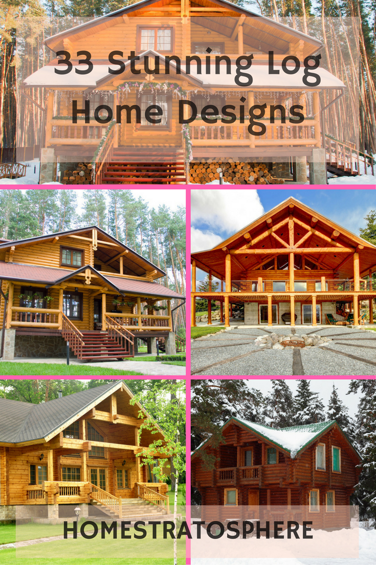 Stunning Log Home Designs