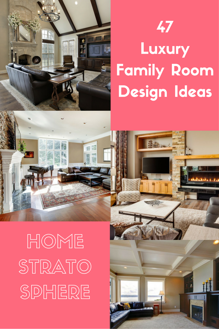 Luxury Family Room Collage Ideas