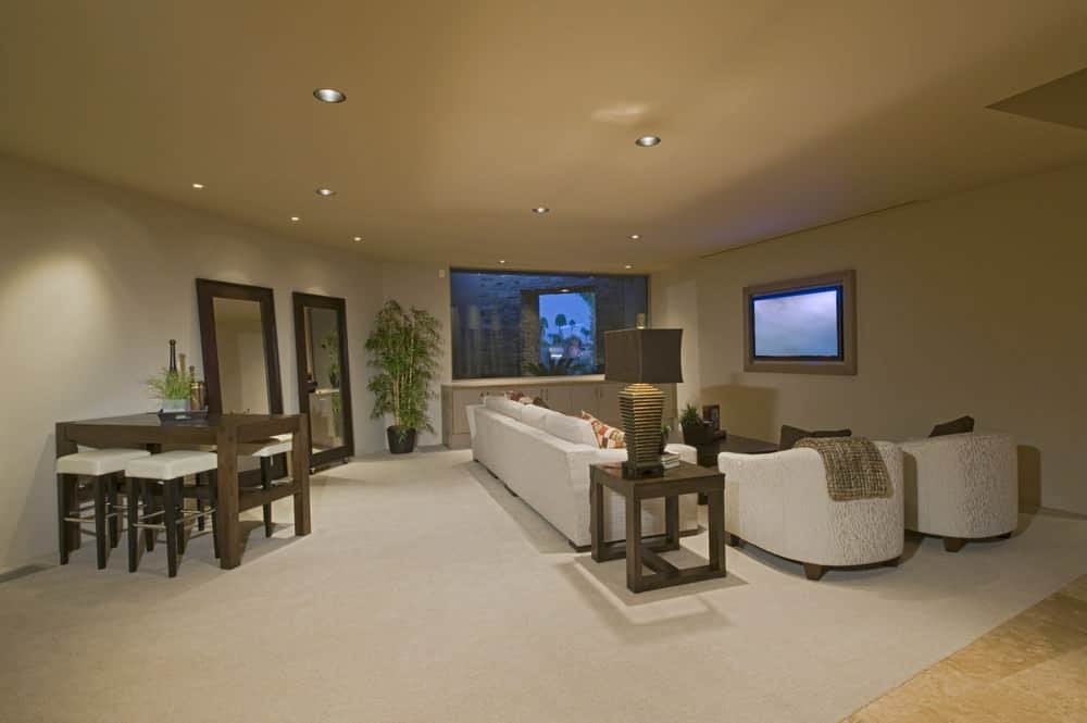 Family living room with TV.