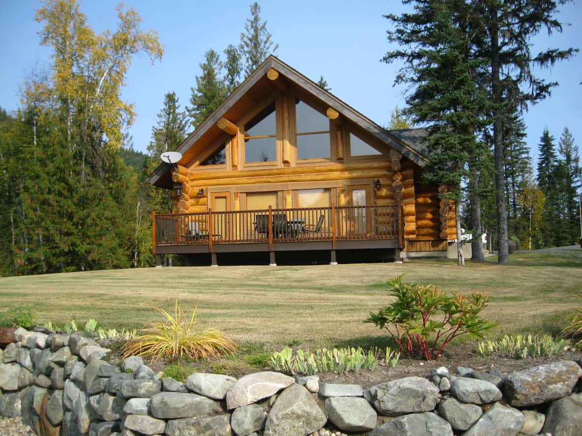 339 stunning log cabin home mansion design ideas that for Log home decks