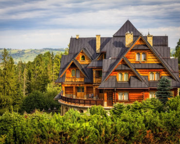 Stunning vacation log mansion