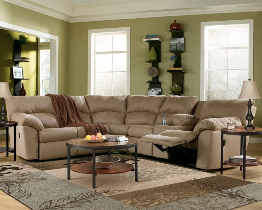 1. Curved Beige Ultra-Comfortable Sectional : best rated reclining sofas - islam-shia.org