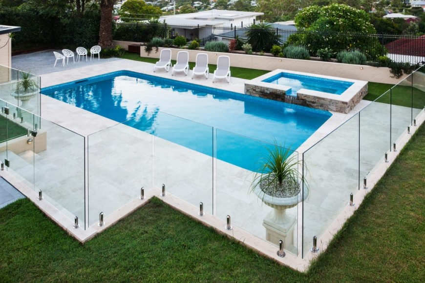 Rectangular Inground Pool Designs inground pool fence ideas | pool design ideas
