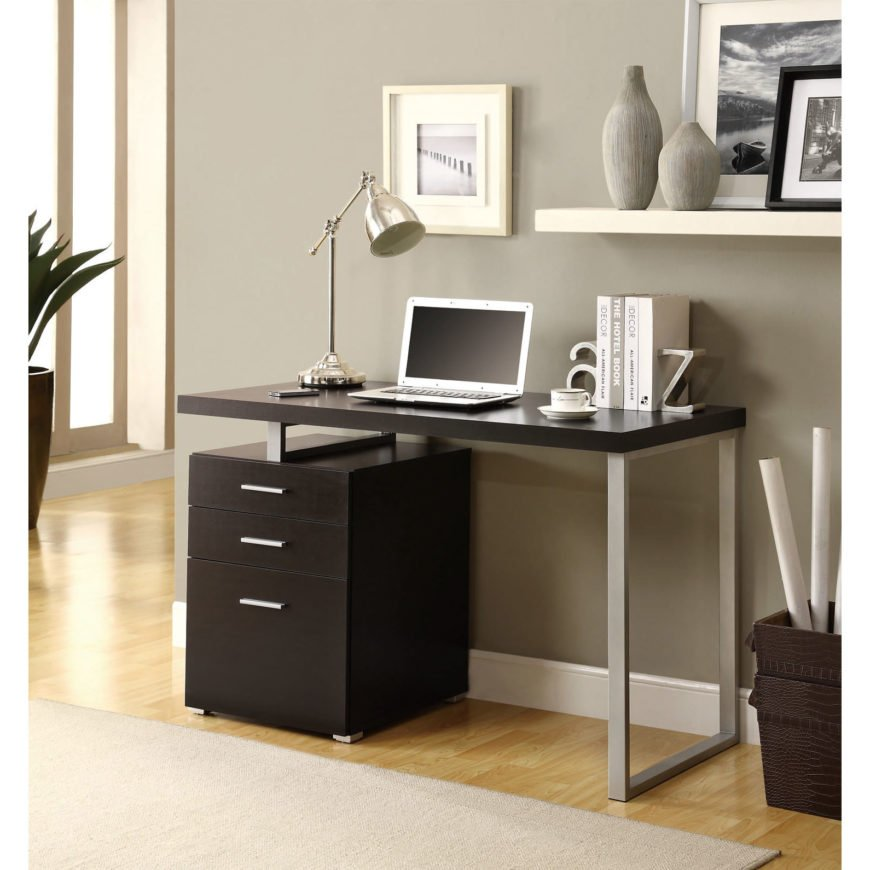 Contemporary style computer desk