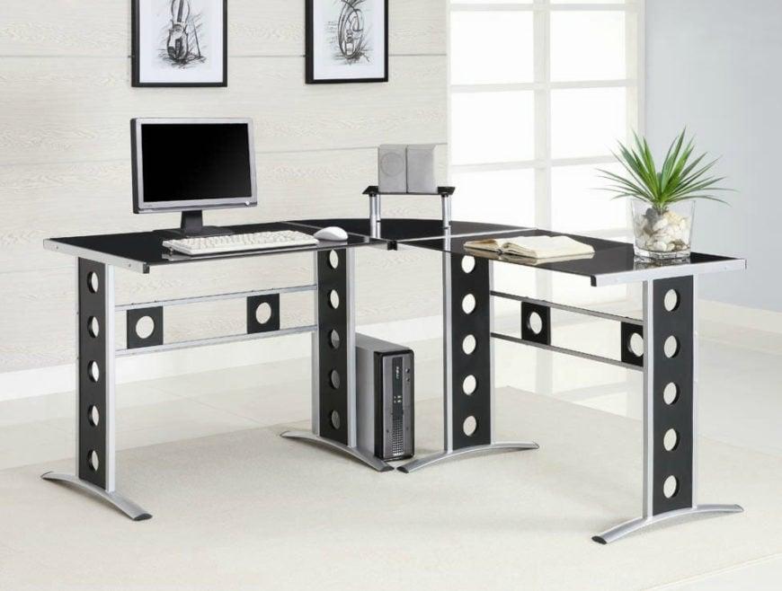 Modern computer desk.