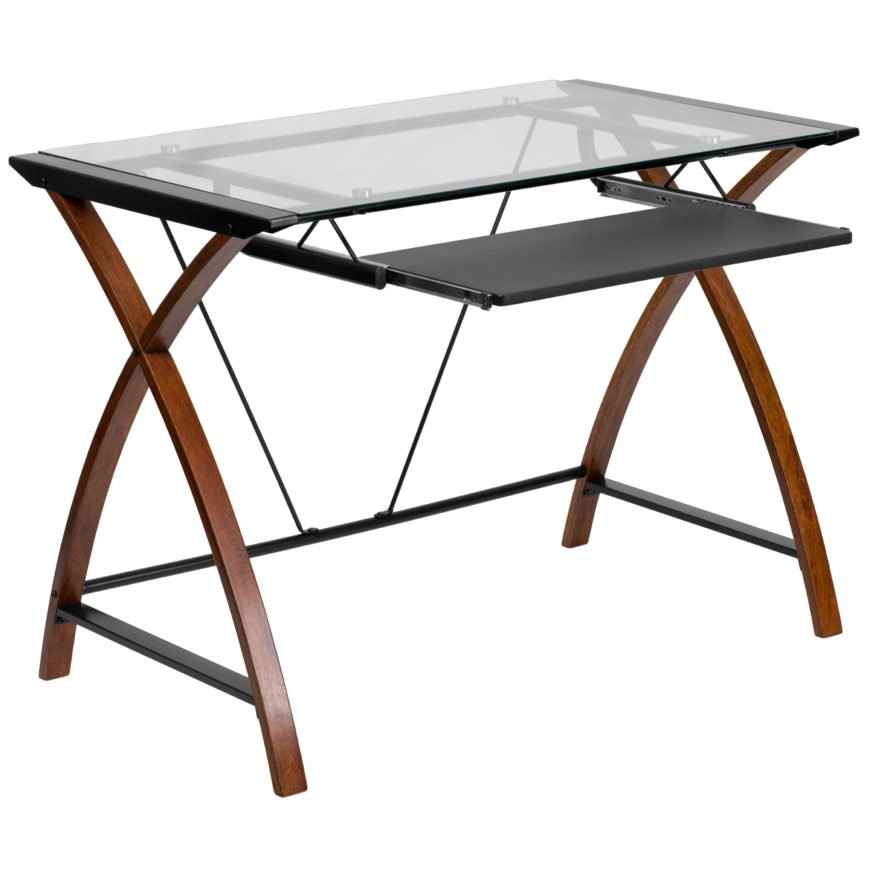 Computer desk with cross legs