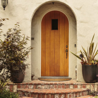Arched Mediterranean front door