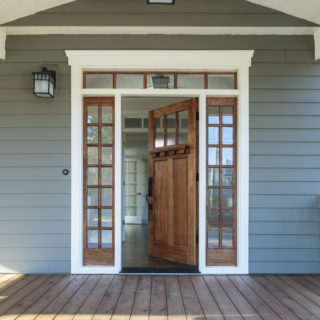 Single Carriage front door with sidelites
