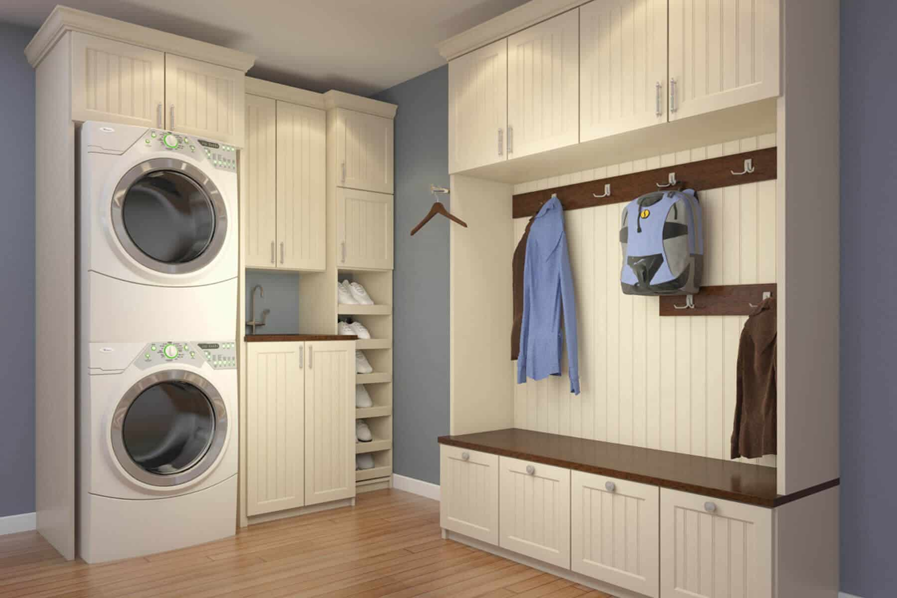Example Of Mudroom And Laundry Room Combo