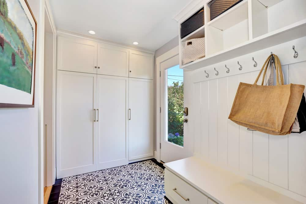 White mudroom design