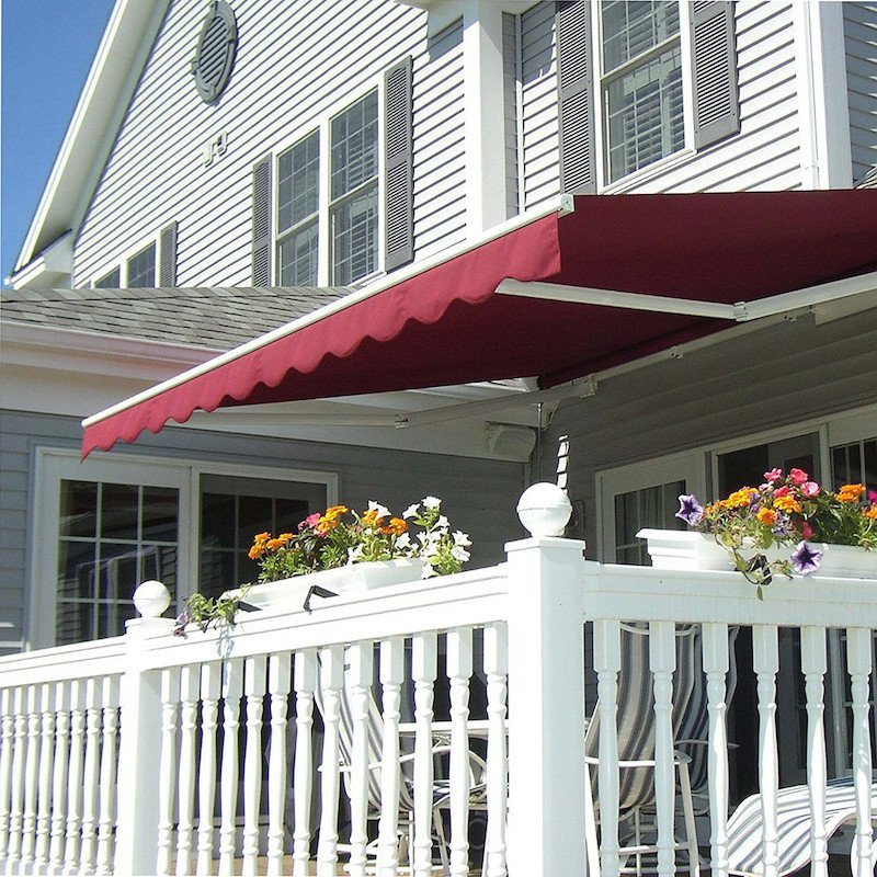 retractable foot large lateral wide awning pin folding the awnings plus palermo arm