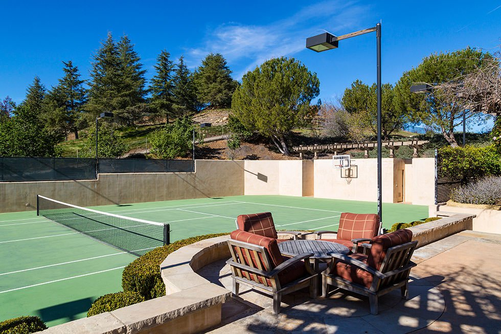 Britney Spears' tennis court.