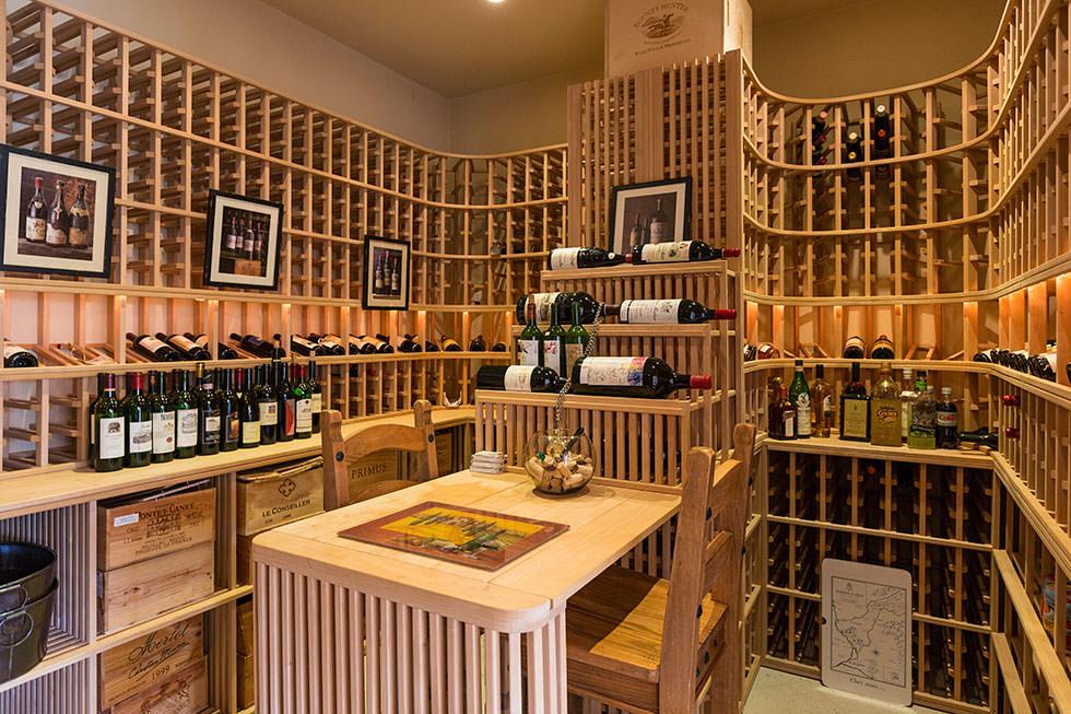 Britney Spears wine cellar.