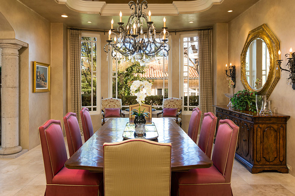 Britney Spears' formal dining room.