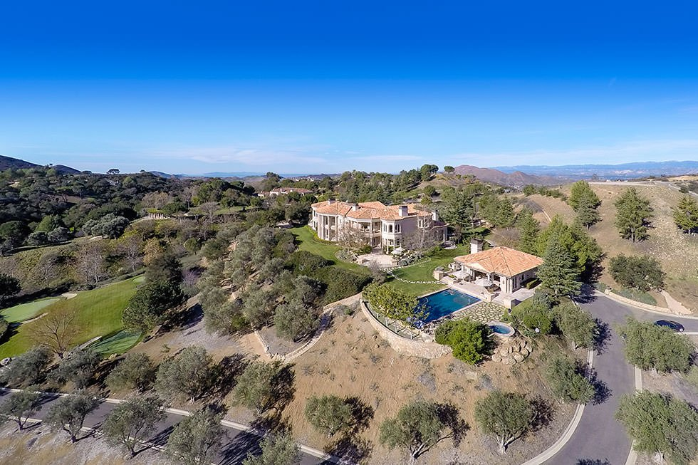 Aerial photo of Britney Spears' estate.