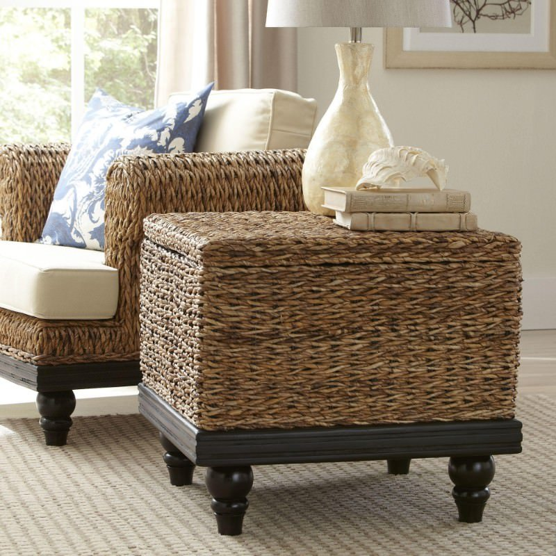 ... End Tables Are Rattan And Even Funnier Is I Like Them. Theyu0027re  Trunk Style. Theyu0027re Light. They Look Good. But, You Do Need To Place A  Tray On Top If ...