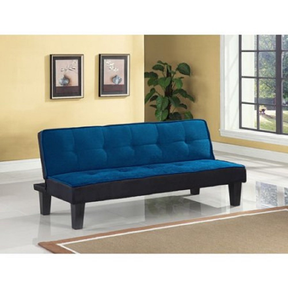 Color Block Adjustable Futon Sofa