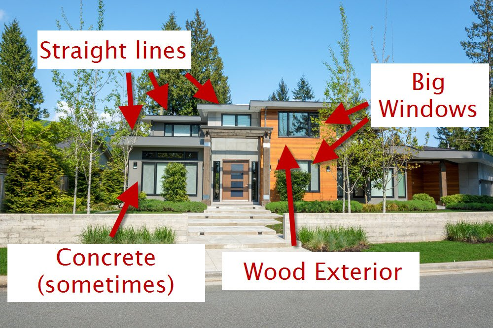 design elements of west coast modern contemporary home exterior design - Modern Home Exterior Wood