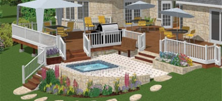 12 Top Garden & Landscaping Design Options in 2018 (Free ... Hgtv Home Design App on urban design app, hgtv property brothers kitchen designs, silhouette design app, interior design app,