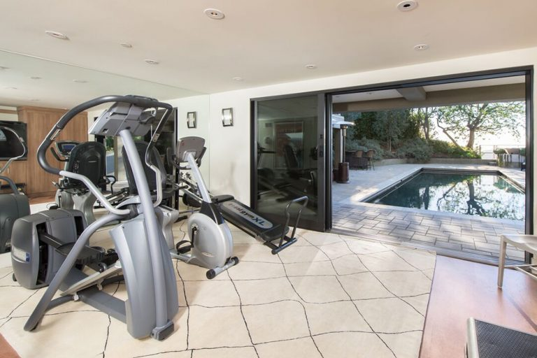 Jane Fonda's home gym in Beverly Hills home she once owned.
