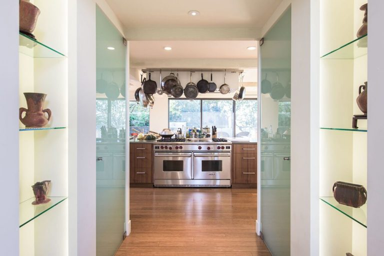 View of kitchen in Jane Fonda's former house.