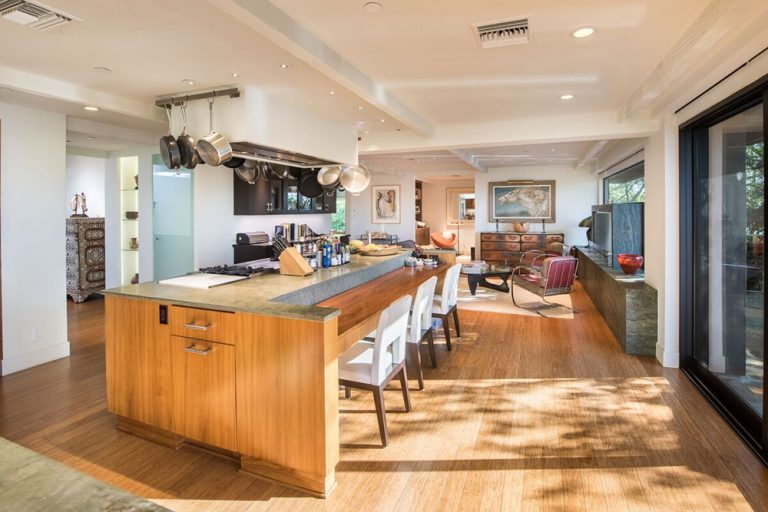 Kitchen in large home once owned by Jane Fonda