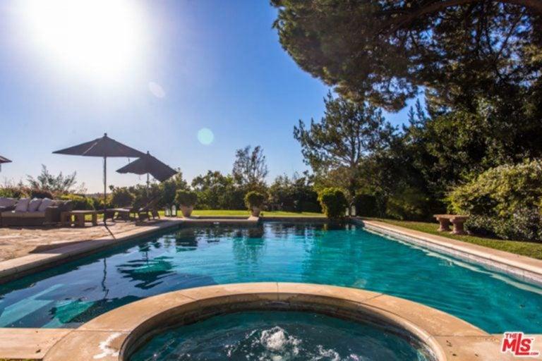 Jessica Alba's backyard pool.