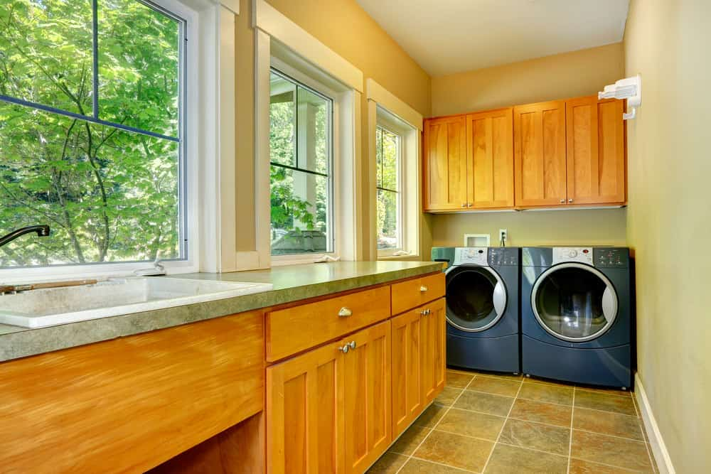 Laundry room with countertops