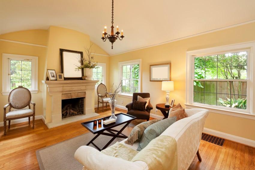 50 Yellow Living Room Ideas Photos