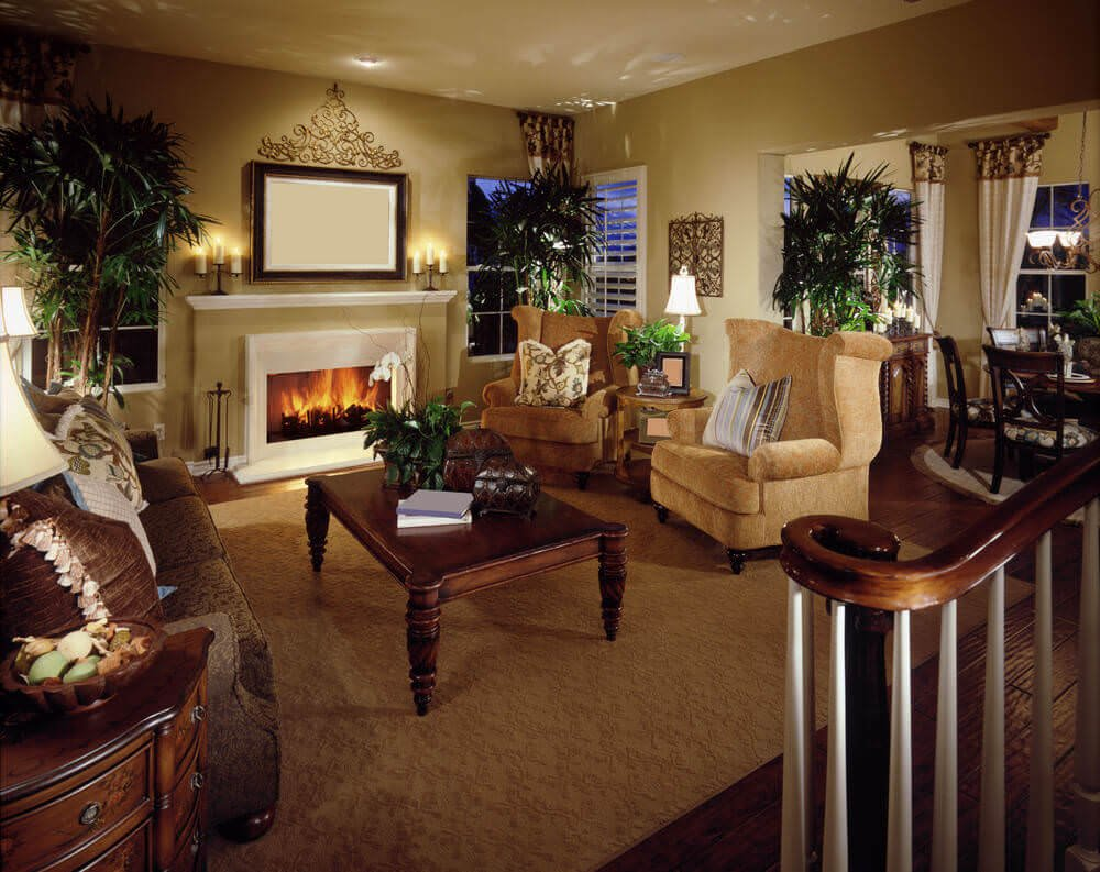 80 Living Room Examples With Brown Couches Photos