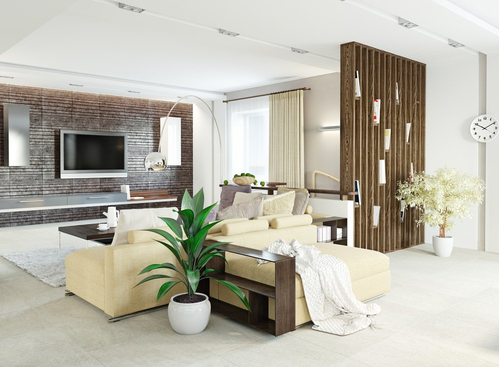This living room offers a set of comfortable seats and tiles flooring.