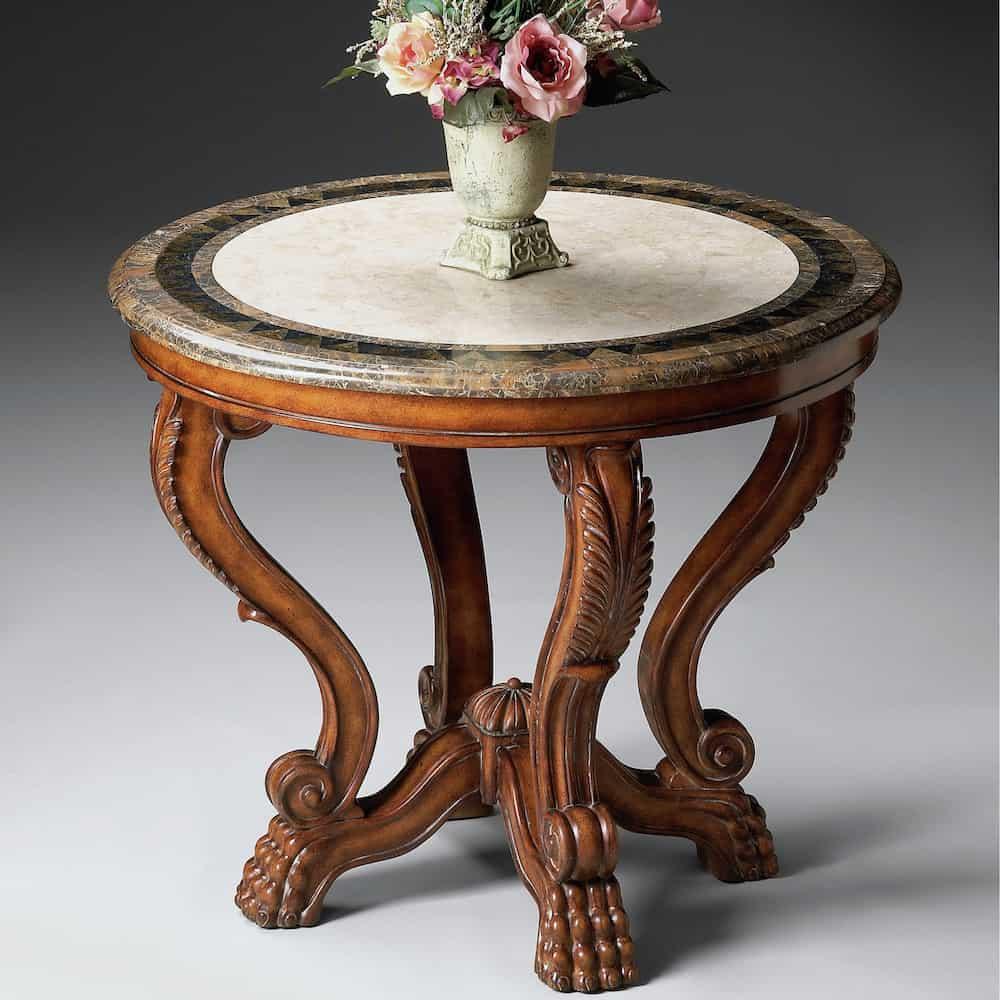 Round centerpiece foyer table