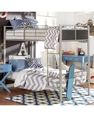 Weston Home Twin Over Twin Metal Bunk Bed