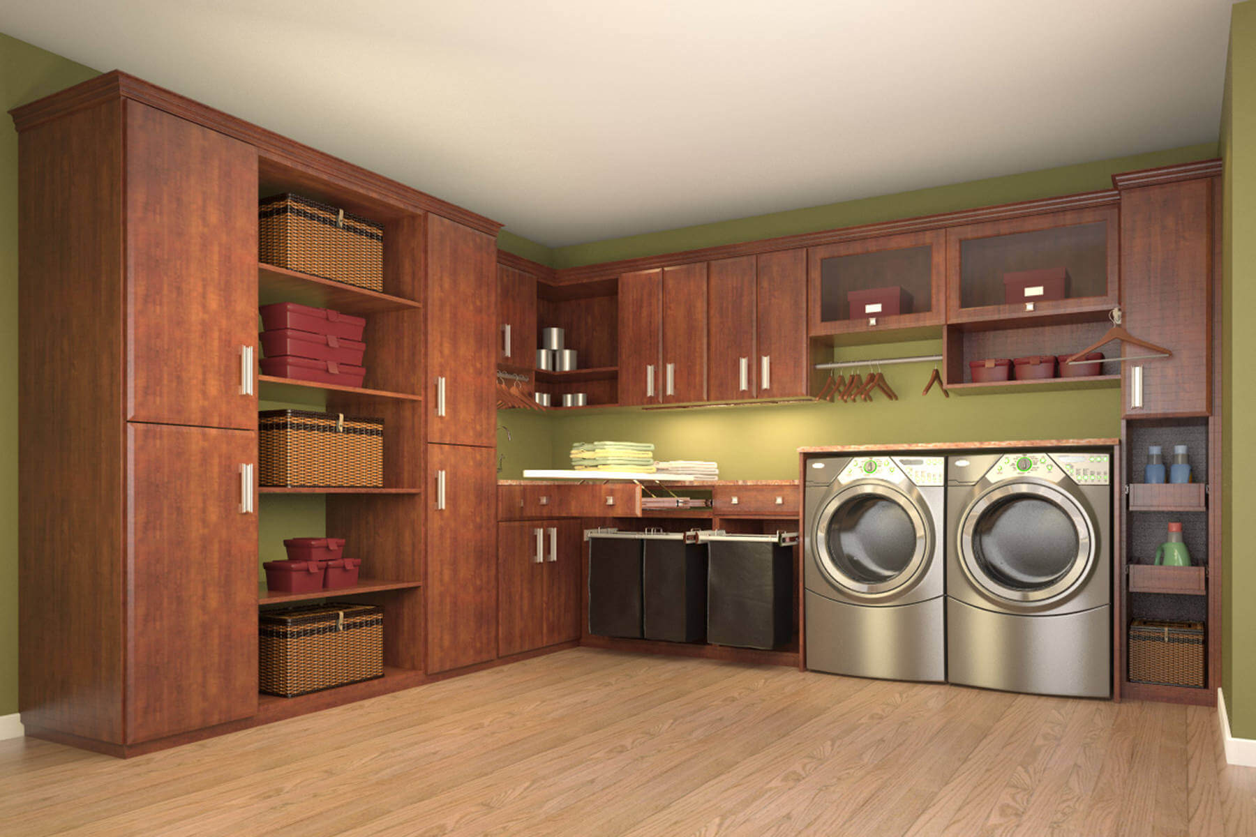 Dedicated spacious laundry room