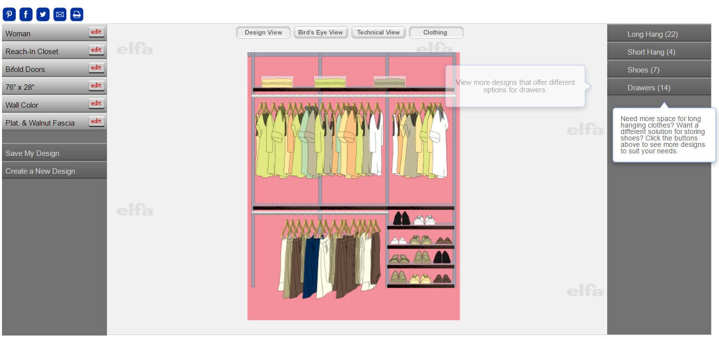 Example of closet design software