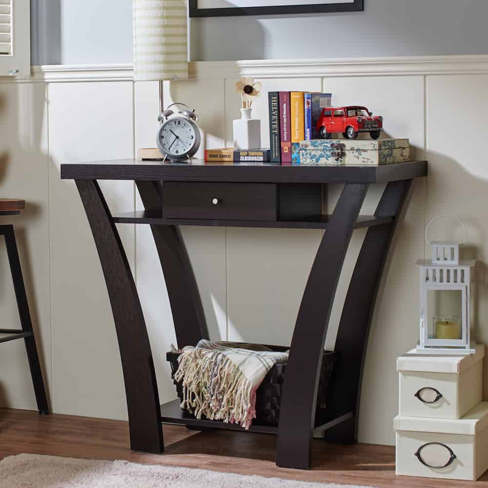 Contemporary foyer table design