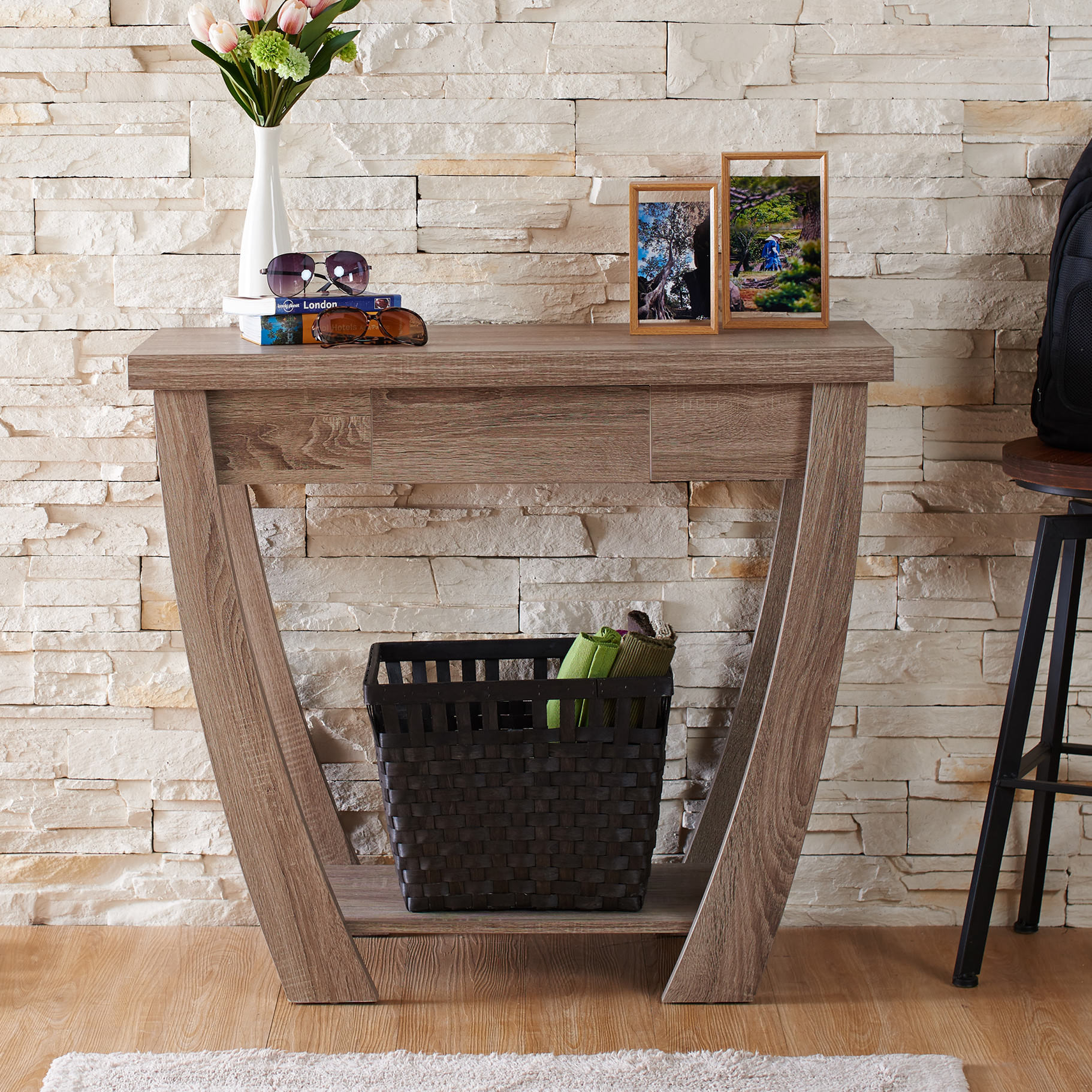 Manufactured wood foyer table photo