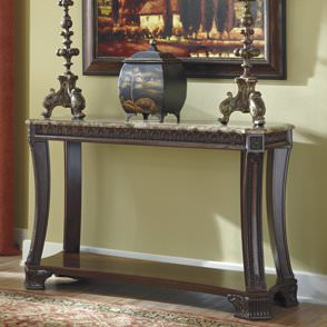 Granite foyer table photo