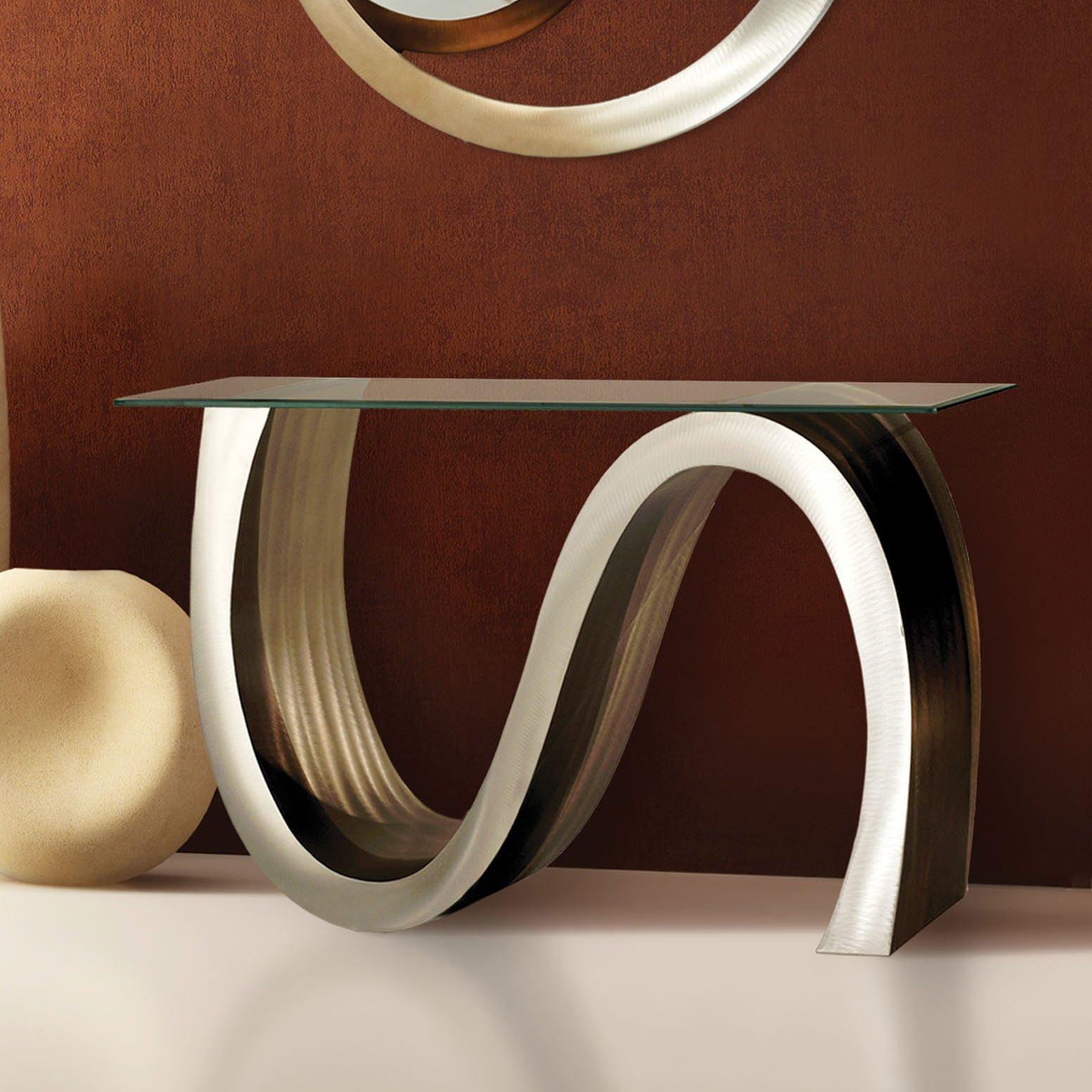Metal foyer table photo