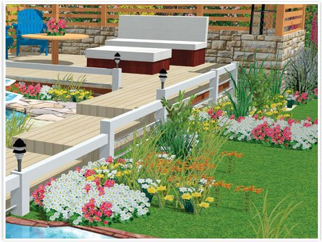 here are some screenshots illustrating what you can design landscape wise with hgtvs landscape design software