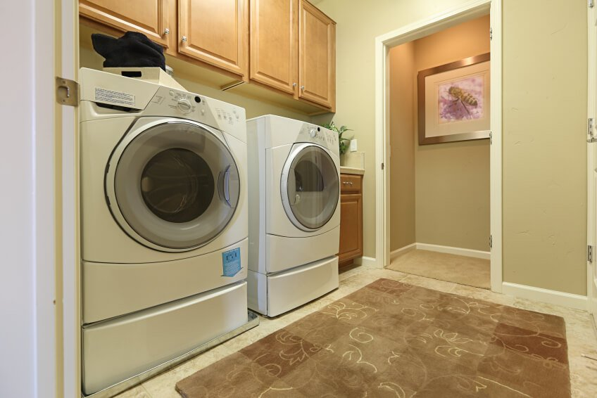 Dedicated laundry room space.