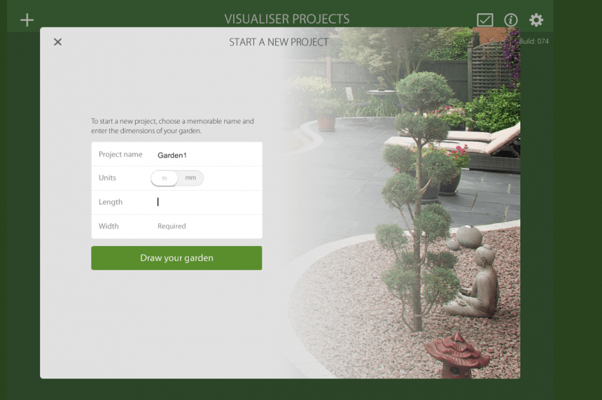 Marshalls Garden Visualiser project feature
