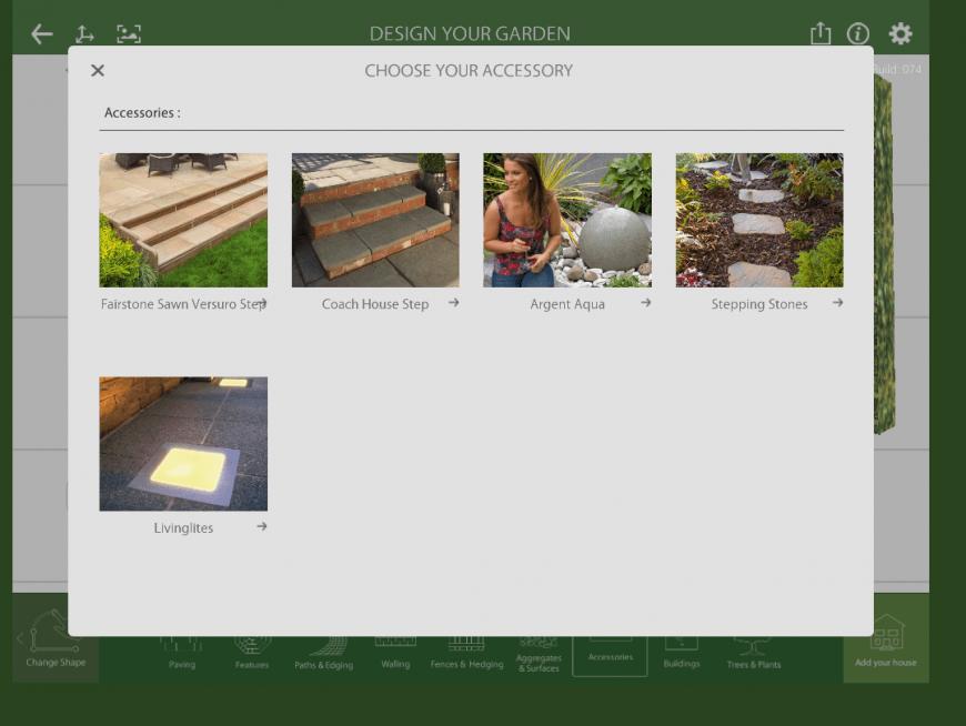 Marshalls Garden Visualiser accessory feature
