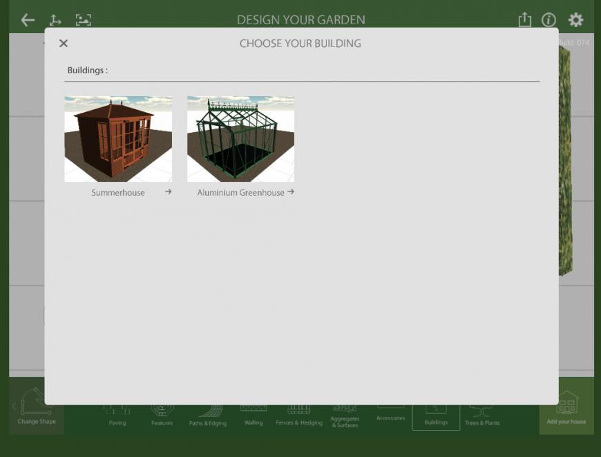 Marshalls Garden Visualiser building feature