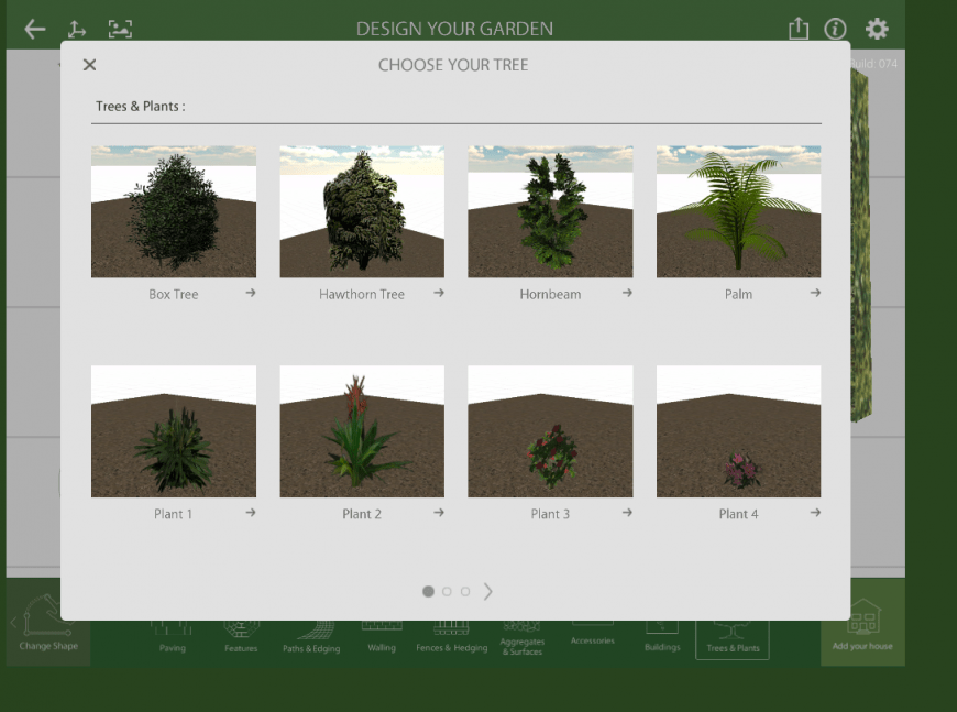 Marshalls Garden Visualiser plants feature