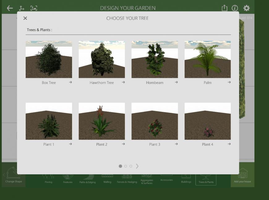 Marshalls Garden Visualiser plants feature