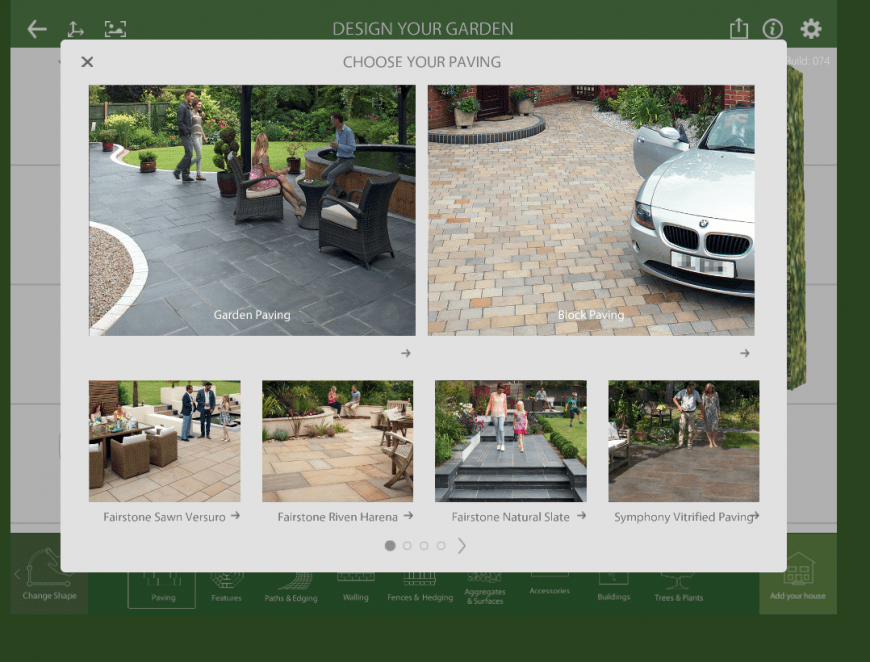 Marshalls Garden Visualiser paving feature