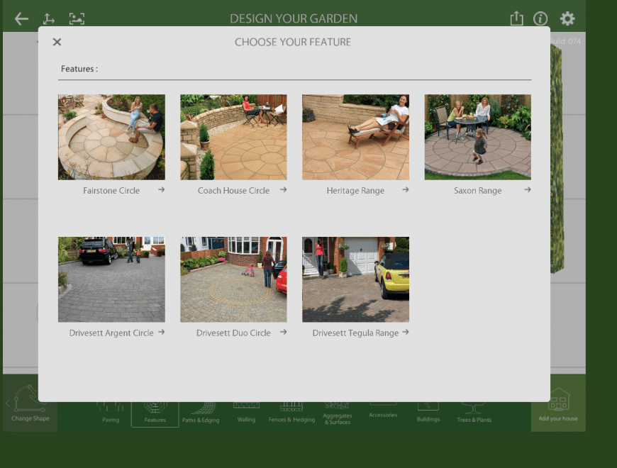 Marshalls Garden Visualiser feature