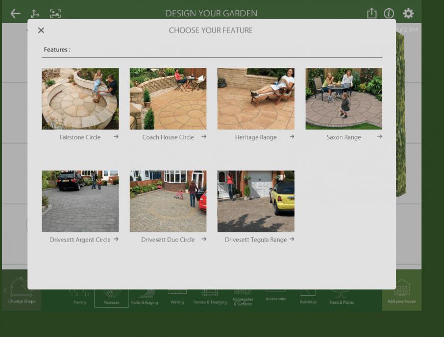 Marshalls Garden Visualiser feature